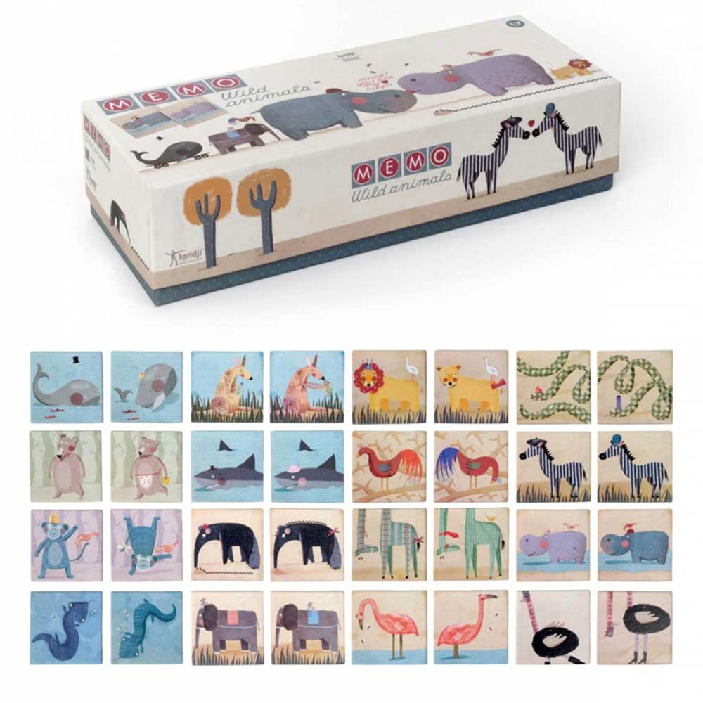 西班牙Londji|記憶遊戲-荒野動物