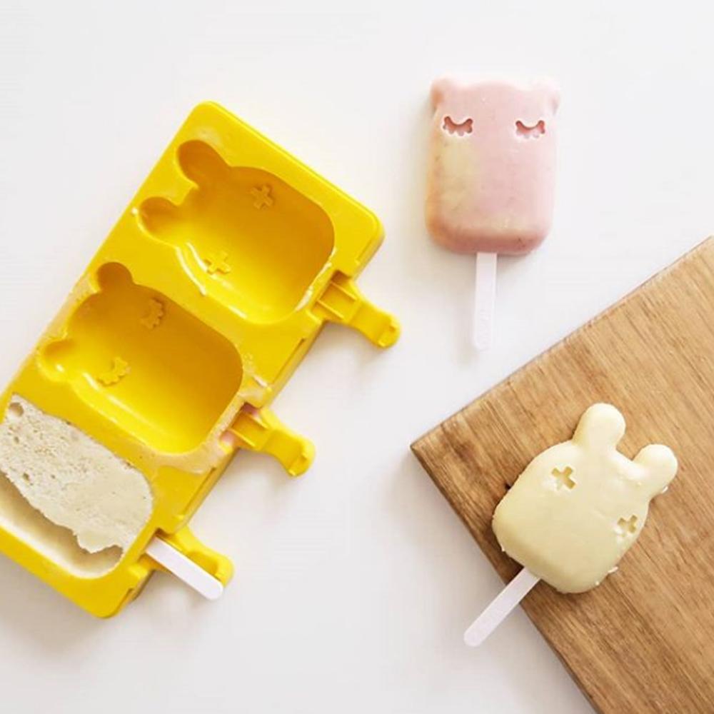 澳洲We Might Be Tiny|矽膠動物冰棒盒-萊姆黃