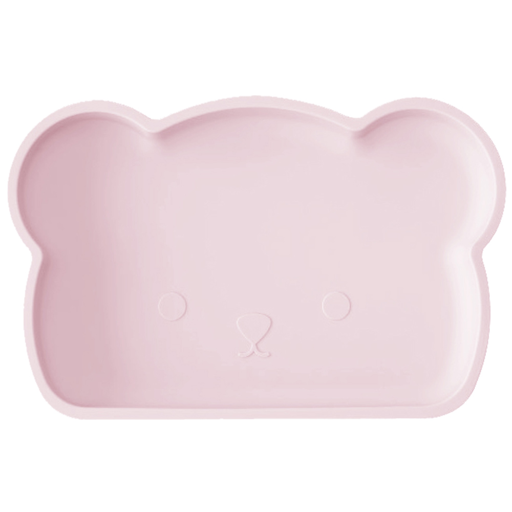 新加坡bopomofo 小熊矽膠餐盤-粉紅