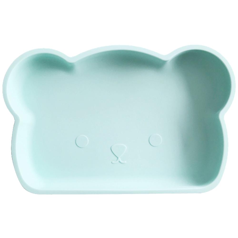 新加坡bopomofo|小熊矽膠餐盤-粉綠
