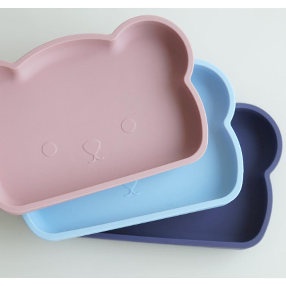 新加坡bopomofo|小熊矽膠餐盤-煙灰粉