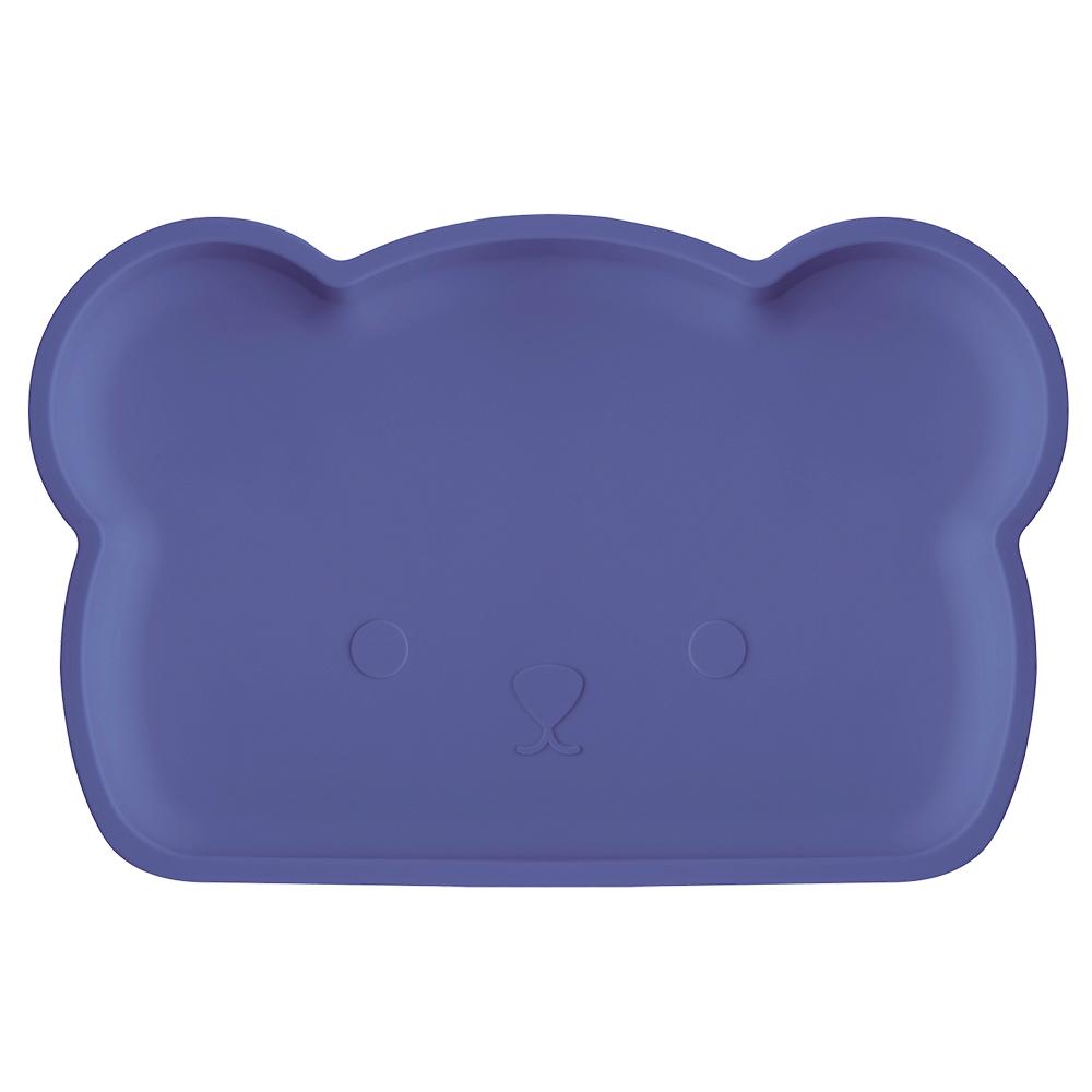 新加坡bopomofo|小熊矽膠餐盤-深夜藍