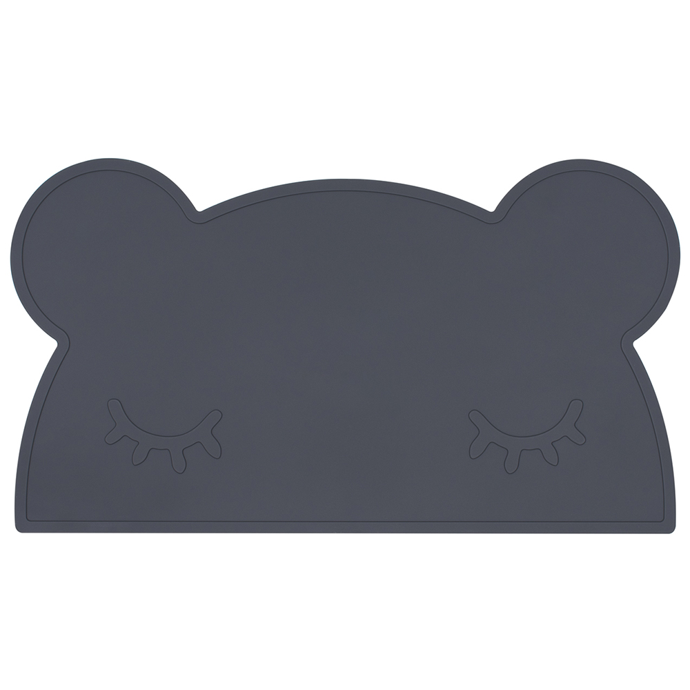 澳洲We Might Be Tiny 矽膠防滑餐墊熊寶寶-木炭黑