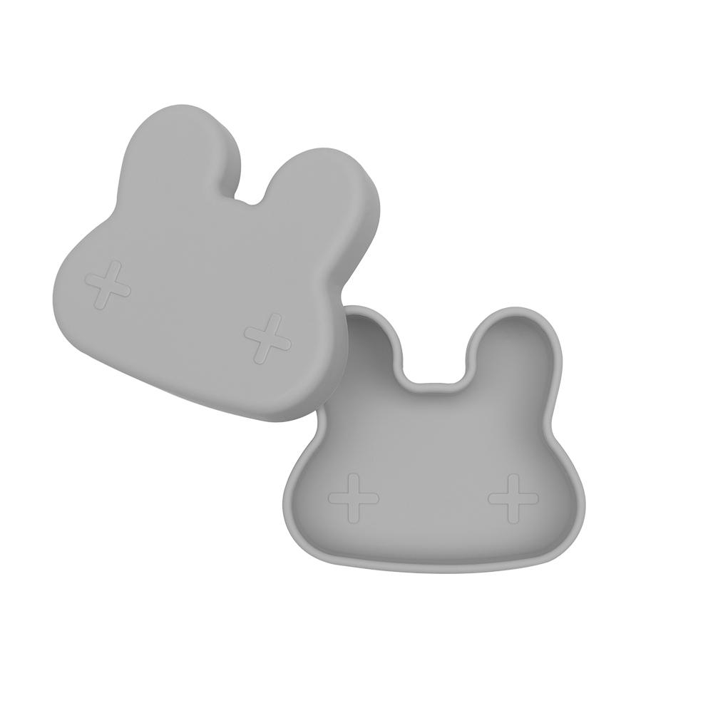 澳洲We Might Be Tiny|矽膠防滑便當盒兔寶寶-深灰
