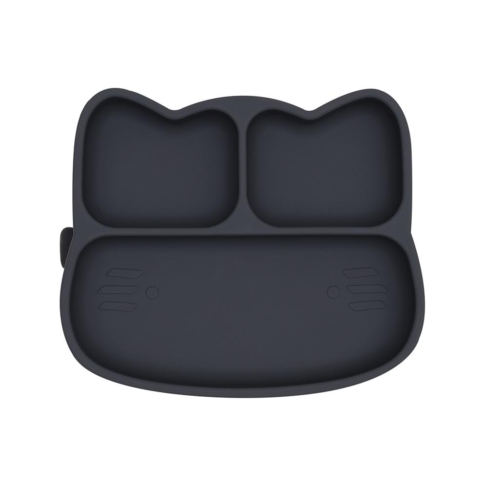 澳洲We Might Be Tiny|矽膠分隔餐盤小花貓-木炭黑