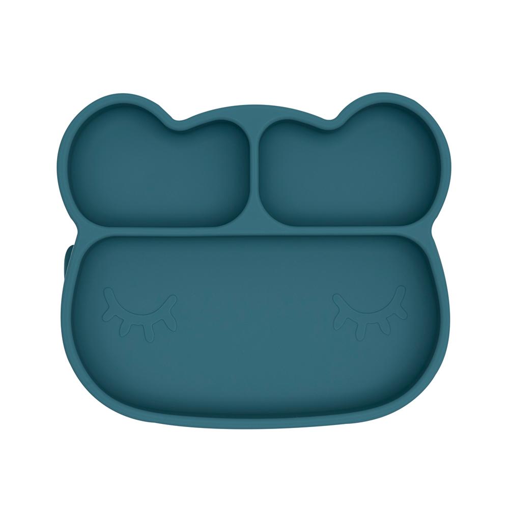 澳洲We Might Be Tiny|矽膠分隔餐盤熊寶寶-孔雀藍