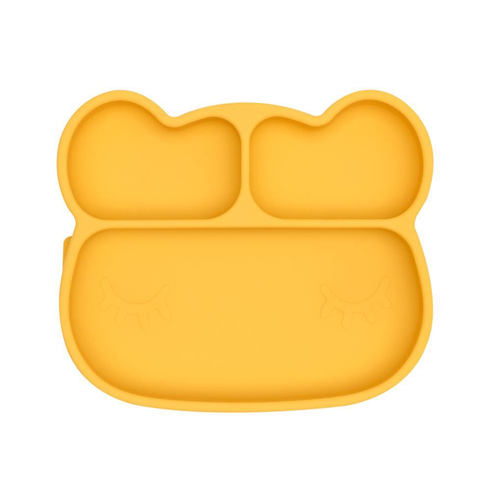 澳洲We Might Be Tiny|矽膠分隔餐盤熊寶寶-萊姆黃