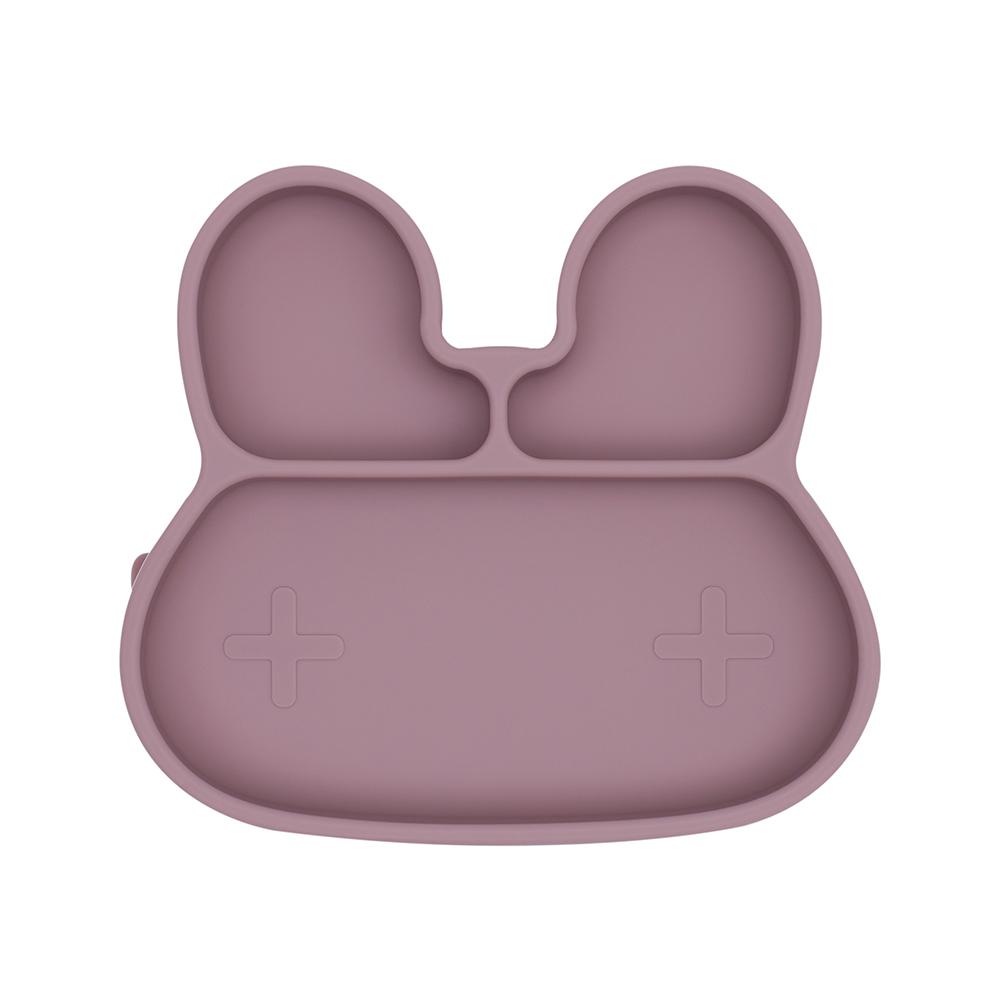 澳洲We Might Be Tiny|矽膠分隔餐盤兔寶寶-煙燻玫瑰