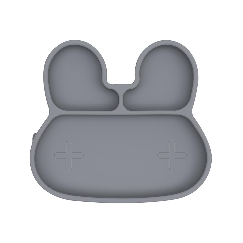 澳洲We Might Be Tiny|矽膠分隔餐盤兔寶寶-深灰