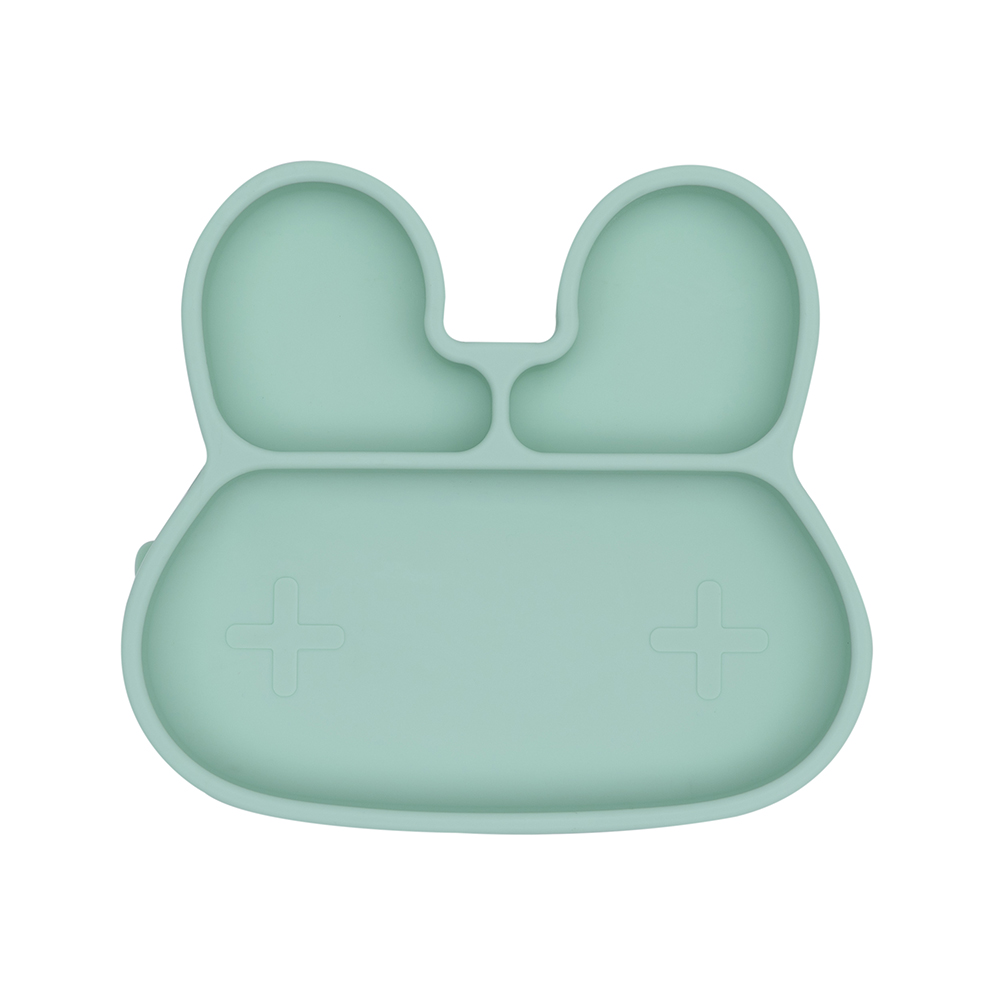 澳洲We Might Be Tiny|矽膠分隔餐盤兔寶寶-薄荷綠