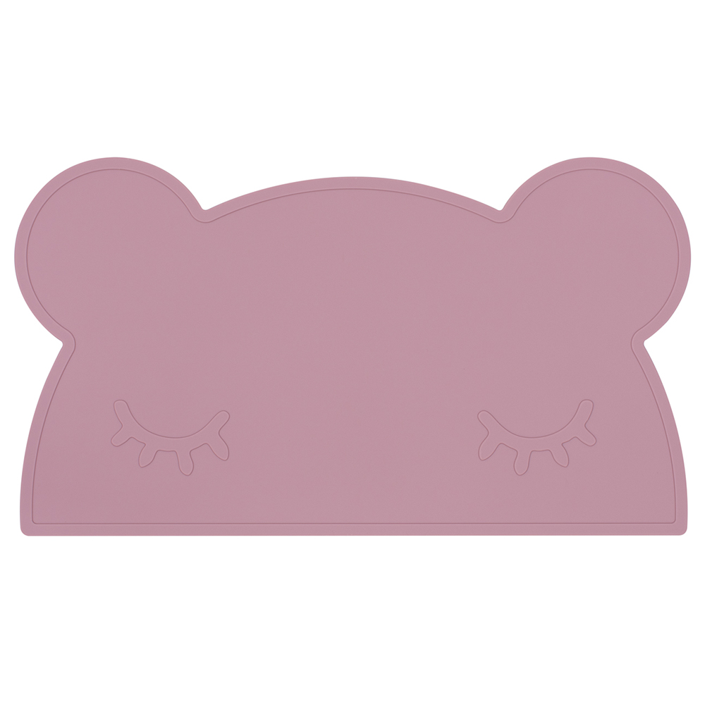 澳洲We Might Be Tiny|矽膠防滑餐墊熊寶寶-煙燻玫瑰