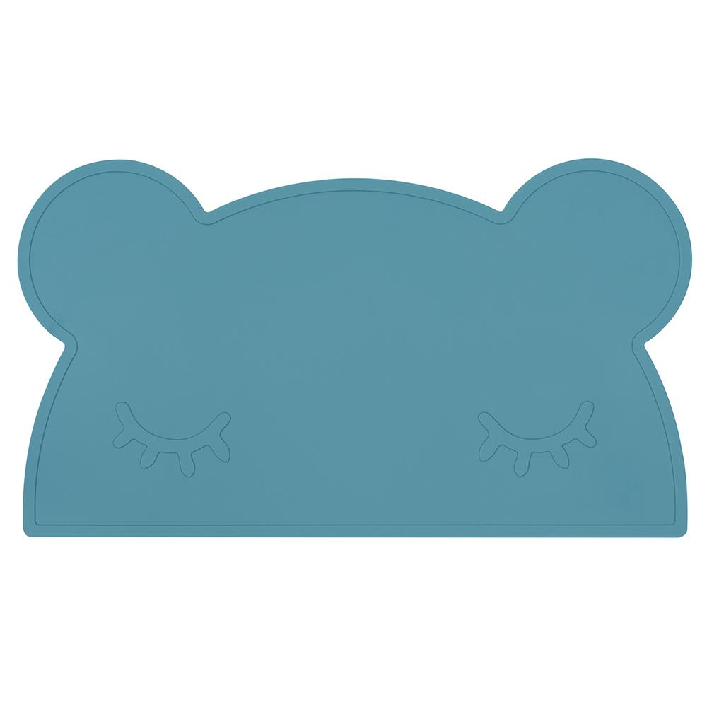澳洲We Might Be Tiny|矽膠防滑餐墊熊寶寶-孔雀藍
