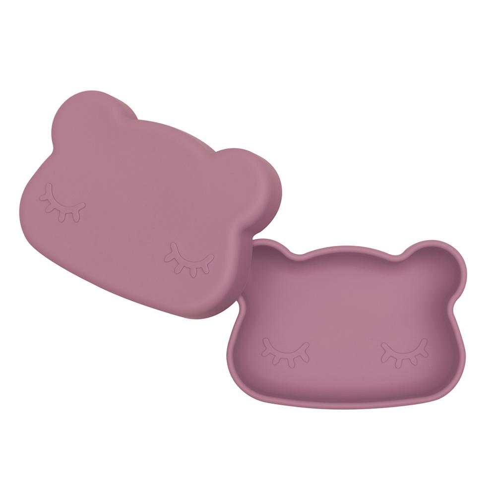 澳洲We Might Be Tiny|矽膠防滑便當盒熊寶寶-煙燻玫瑰
