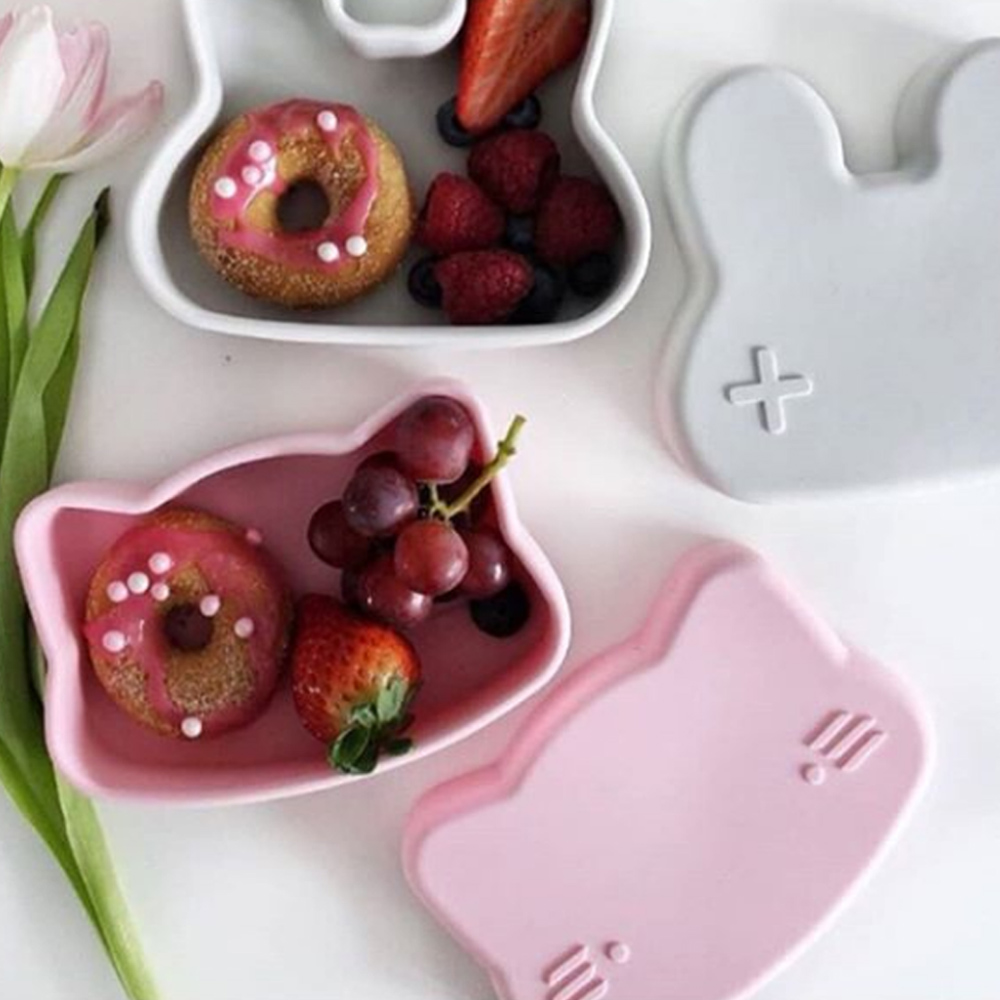 澳洲We Might Be Tiny|矽膠防滑便當盒小花貓-煙燻玫瑰