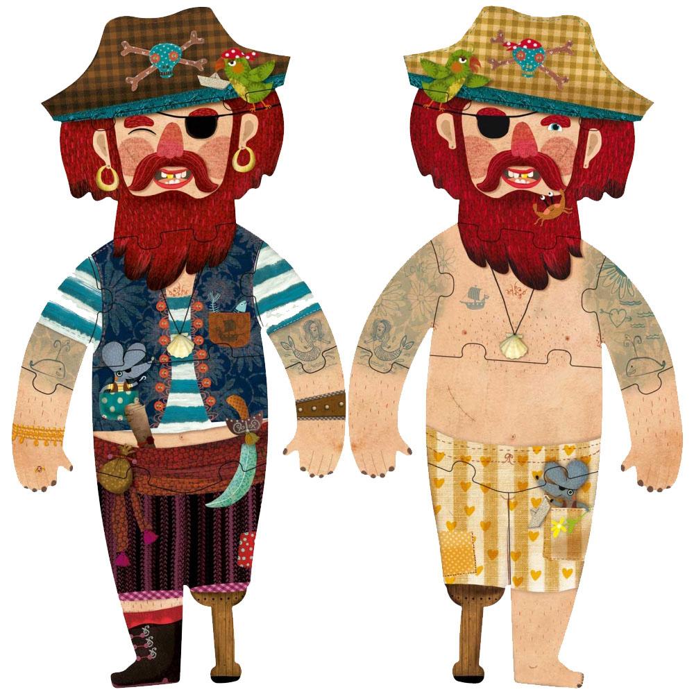 西班牙Londji 海盜王杰克雙面拼圖