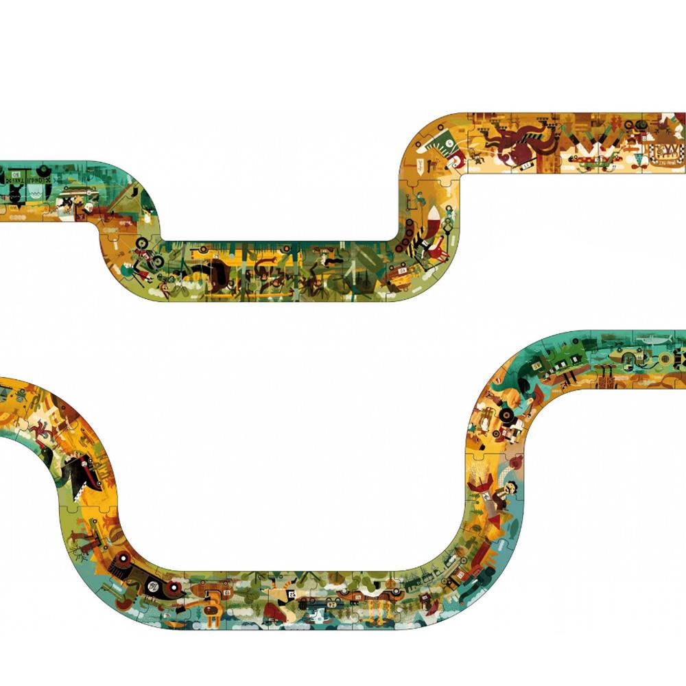 西班牙Londji 動物賽車三公尺軌道拼圖