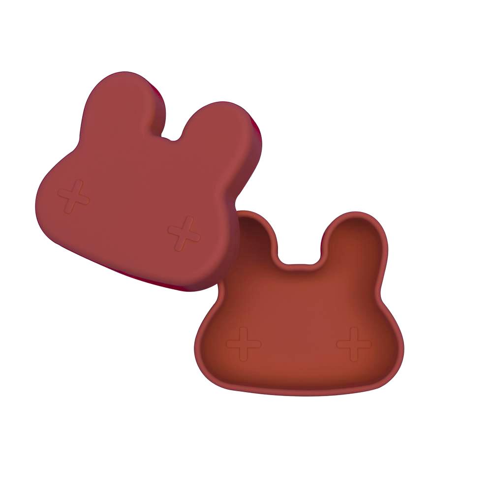 澳洲We Might Be Tiny 矽膠防滑便當盒兔寶寶-鐵鏽橘