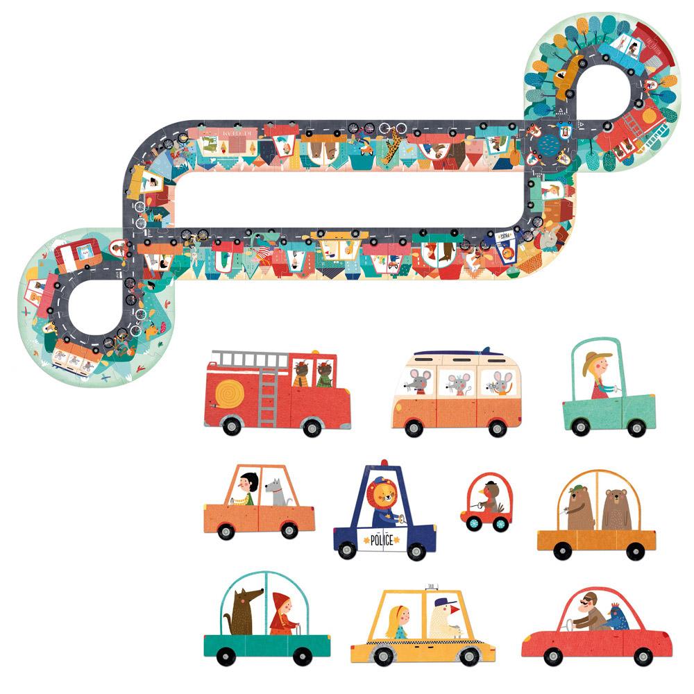 西班牙Londji 嗶嗶!車車造型拼圖