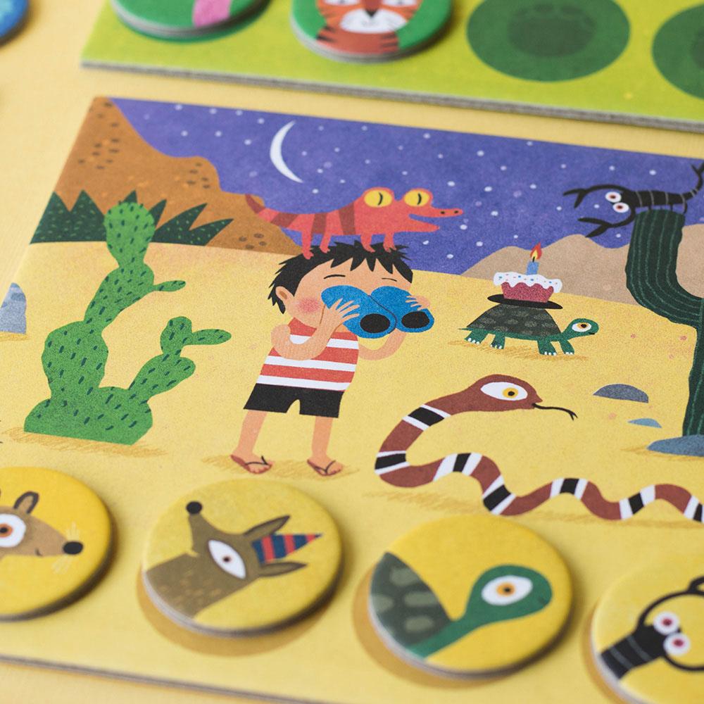 西班牙Londji|動物棲息地配對遊戲