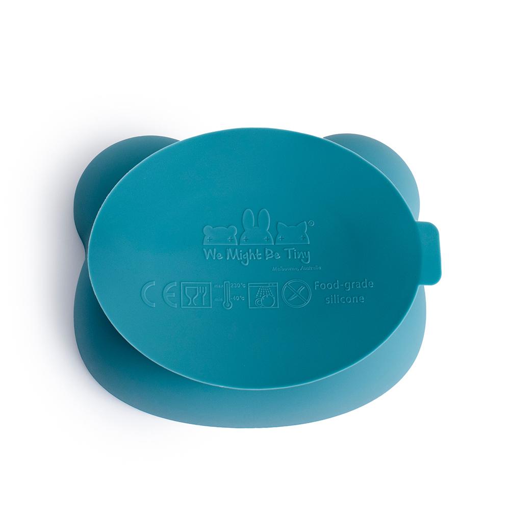澳洲We Might Be Tiny|矽膠防滑吸盤碗熊寶寶(附上蓋) 六色可選