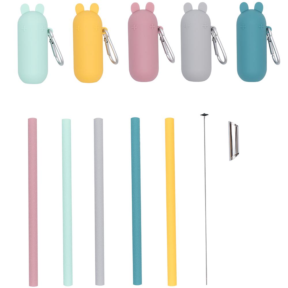 澳洲We Might Be Tiny 兔寶寶矽膠珍珠吸管外出攜帶組 五色可選