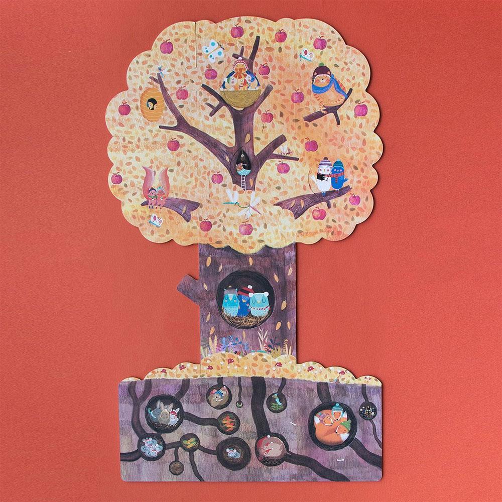 西班牙Londji 蘋果樹雙面拼圖