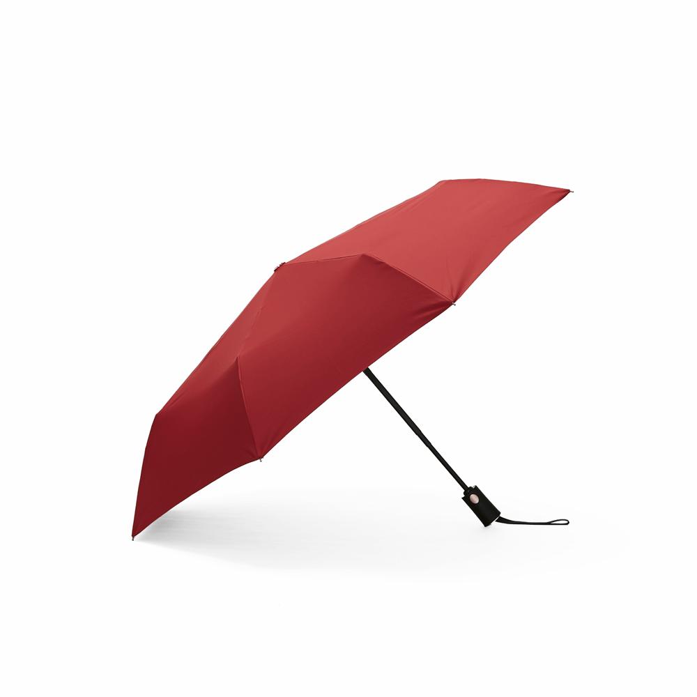 DECUS│POCKET AUTO 時尚仕幔自動折傘-伯爵紅
