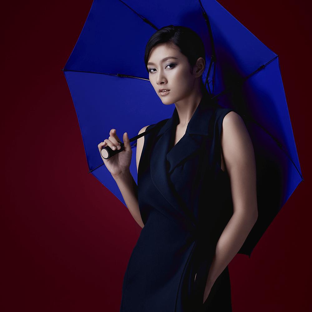 DECUS│POCKET AUTO 時尚仕幔自動折傘-深邃藍
