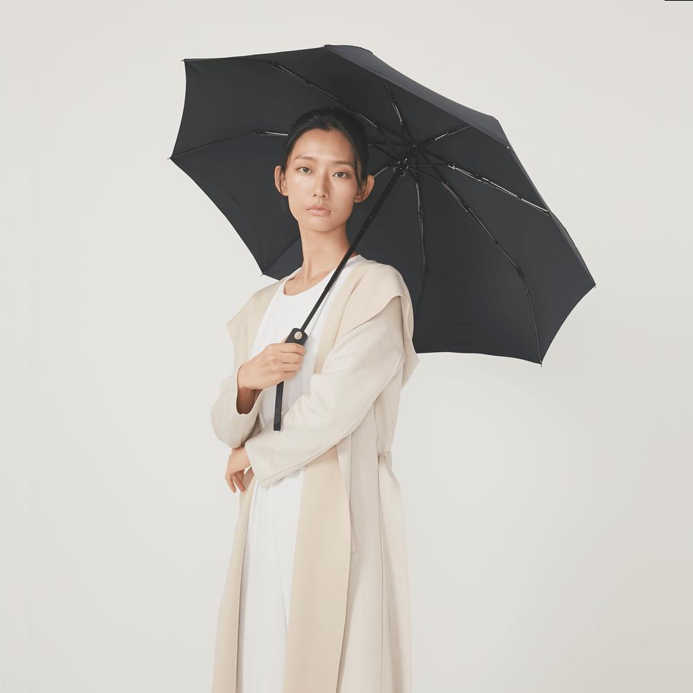 DECUS│POCKET AUTO 時尚仕幔自動折傘-黛麗黑