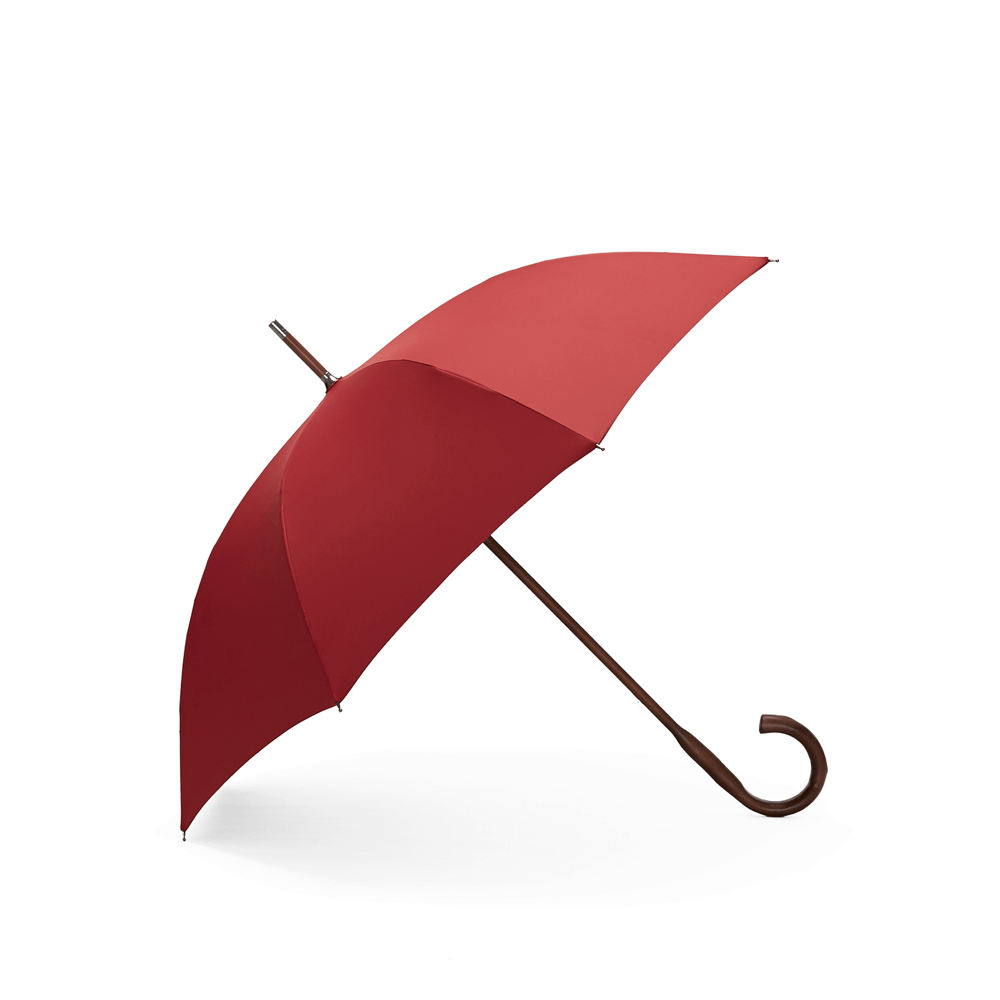 DECUS│CLASSIC WOODEN 經典威登木直傘 - 伯爵紅
