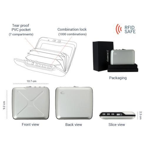 ÖGON|Code Wallet RFID安全防盜密碼錢包(橘色)
