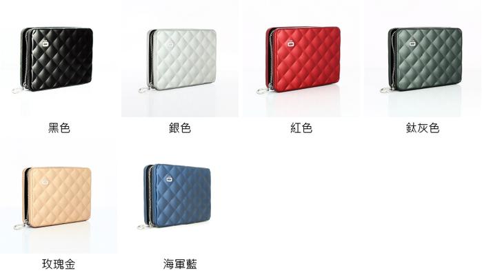 ÖGON|Quilted Passport Wallet RFID安全防盜菱格紋護照夾