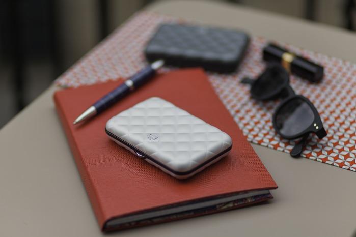 ÖGON|Quilted Button RFID安全防盜菱格紋卡匣-7色任選