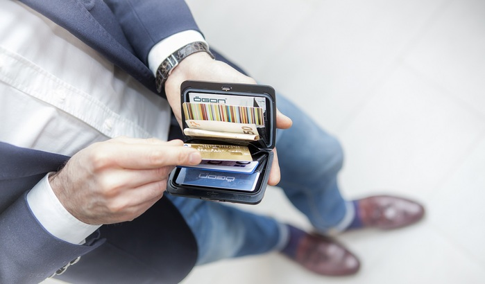 ÖGON Stockholm V2 RFID安全防盜鋁製錢包-8色任選