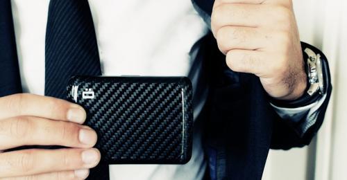 ÖGON|Stockholm V2 RFID安全防盜碳纖維錢包-2色任選
