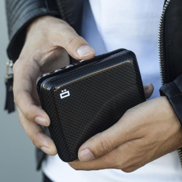 ÖGON|Code Wallet RFID安全防盜密碼錢包-Carbon 碳纖維