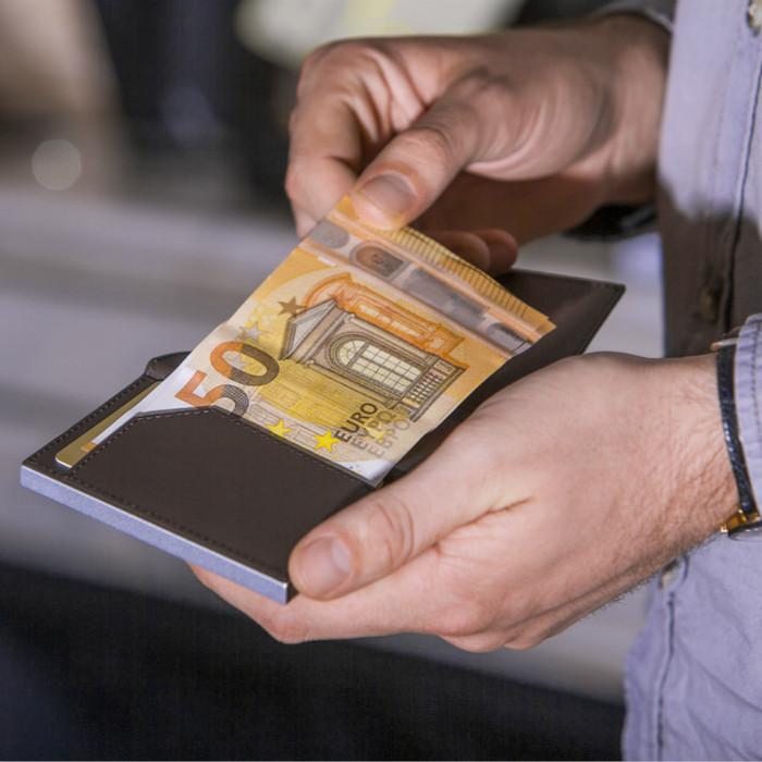 ÖGON Cascade Wallet RFID 安全防盜真皮三摺錢包-13色任選