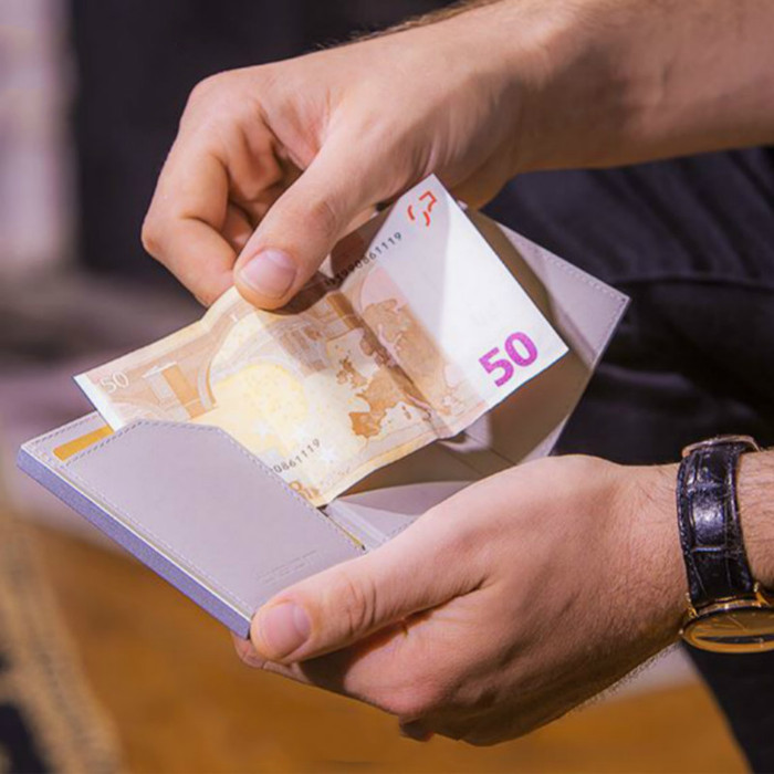 ÖGON|Cascade Wallet SNAP RFID 安全防盜環扣真皮三摺錢包-10色任選