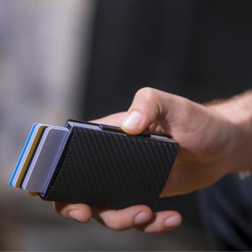 ÖGON|Cascade Wallet SNAP RFID 安全防盜環扣真皮三摺錢包-11色任選