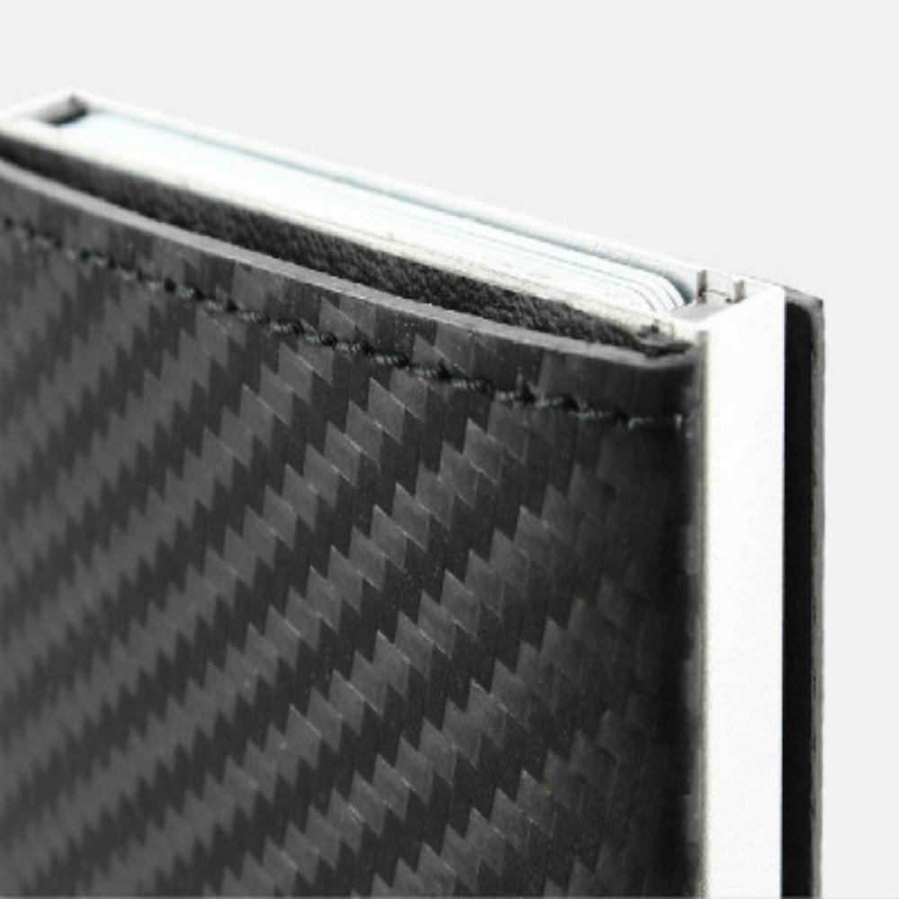 ÖGON|Cascade Wallet RFID 安全防盜真皮三摺錢包-Carbon Leather 碳纖維紋