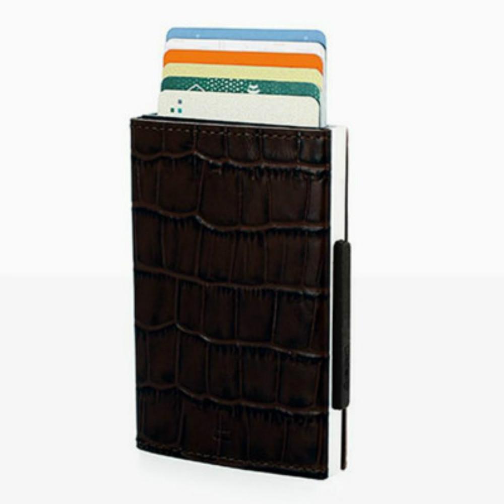 ÖGON|Cascade Wallet RFID 安全防盜真皮三摺錢包-Croco 鱷魚紋