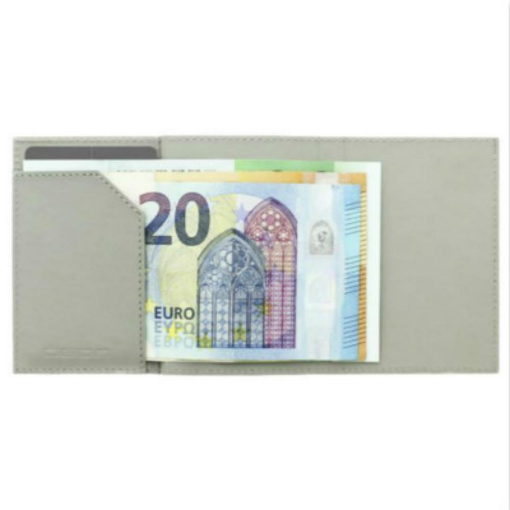 ÖGON|Cascade Wallet RFID 安全防盜真皮三摺錢包-Blaster 太空銀