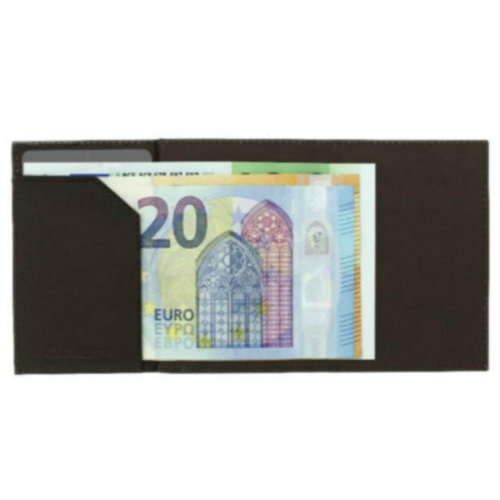 ÖGON Cascade Wallet RFID 安全防盜真皮三摺錢包-Dark Brown 深咖啡色