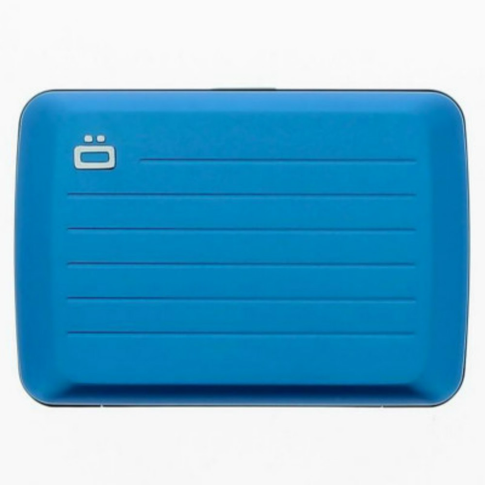 ÖGON Stockholm V2 RFID 安全防盜鋁製錢包-Blue 藍色