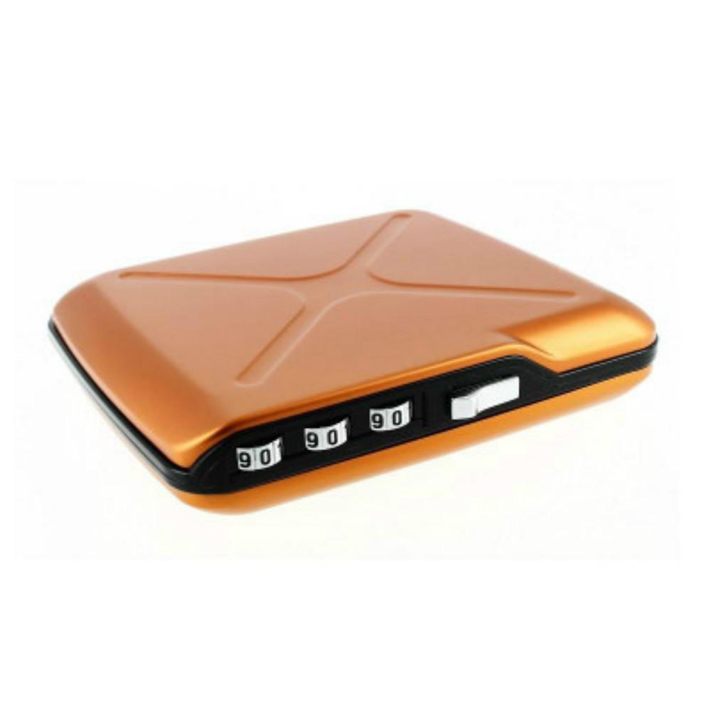 ÖGON|Code Wallet RFID 安全防盜密碼錢包-Orange 橘色
