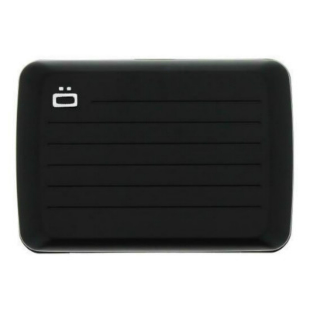 ÖGON Stockholm V2 RFID 安全防盜鋁製錢包-Black 黑色