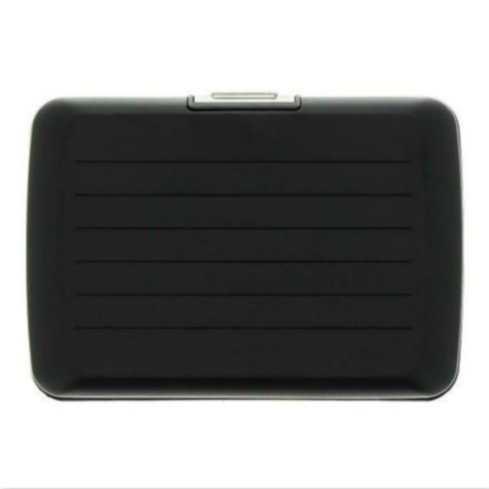 ÖGON|Stockholm V2 RFID 安全防盜鋁製錢包-Black 黑色