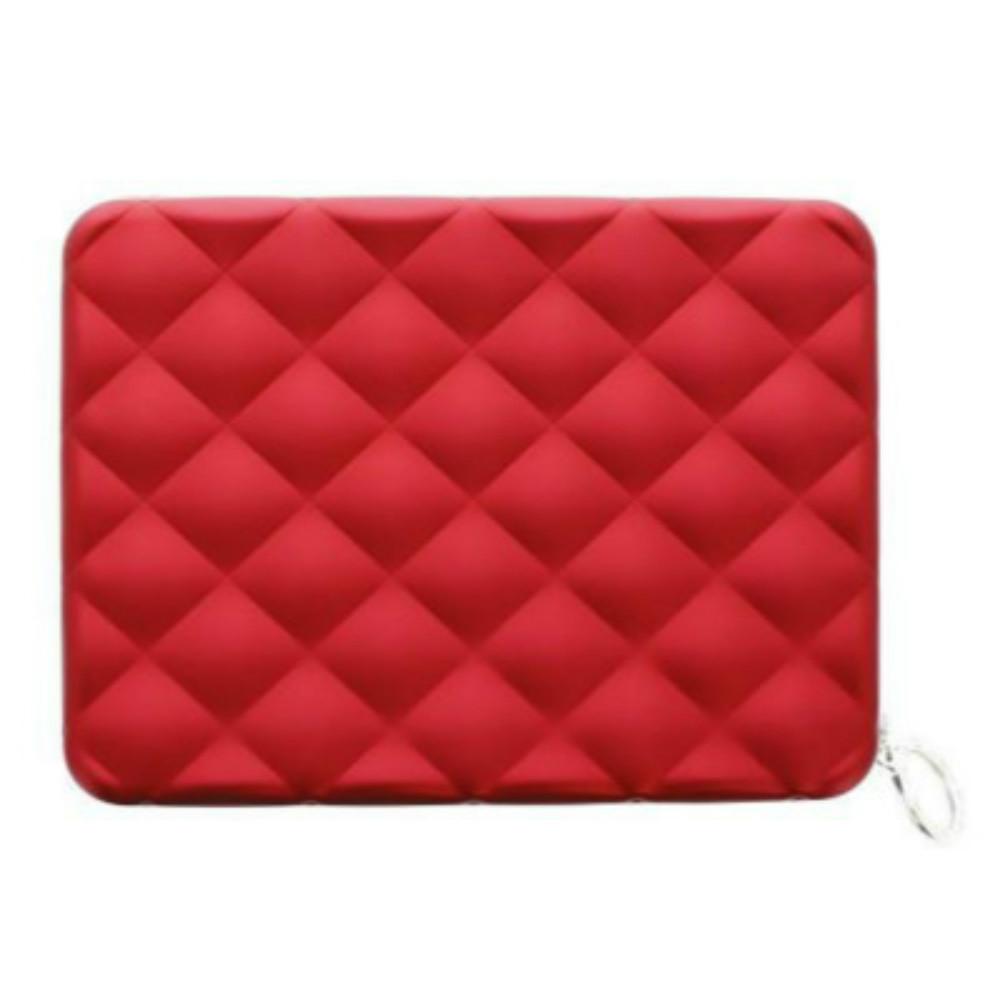 ÖGON|Quilted Passport Wallet RFID 安全防盜菱格紋護照夾-Red 紅色