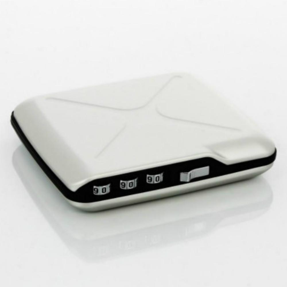 ÖGON|Code Wallet RFID 安全防盜密碼錢包-Silver 銀色