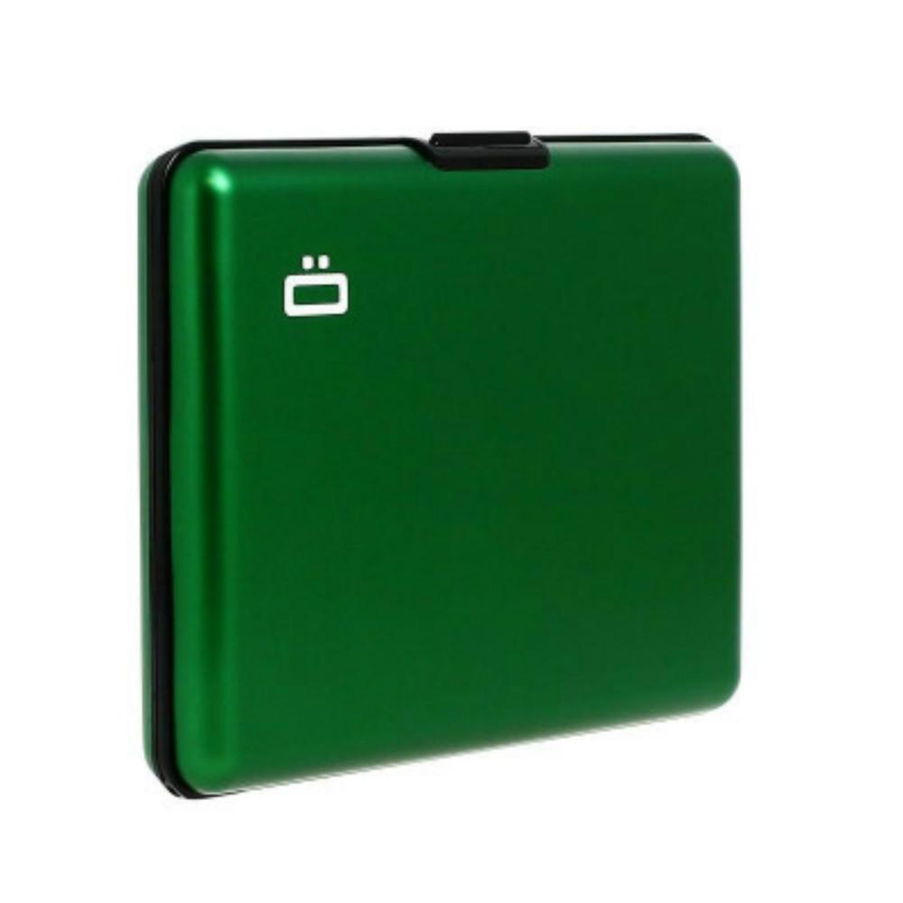ÖGON|Big Stockholm RFID 安全防盜經典錢包-Green 綠色
